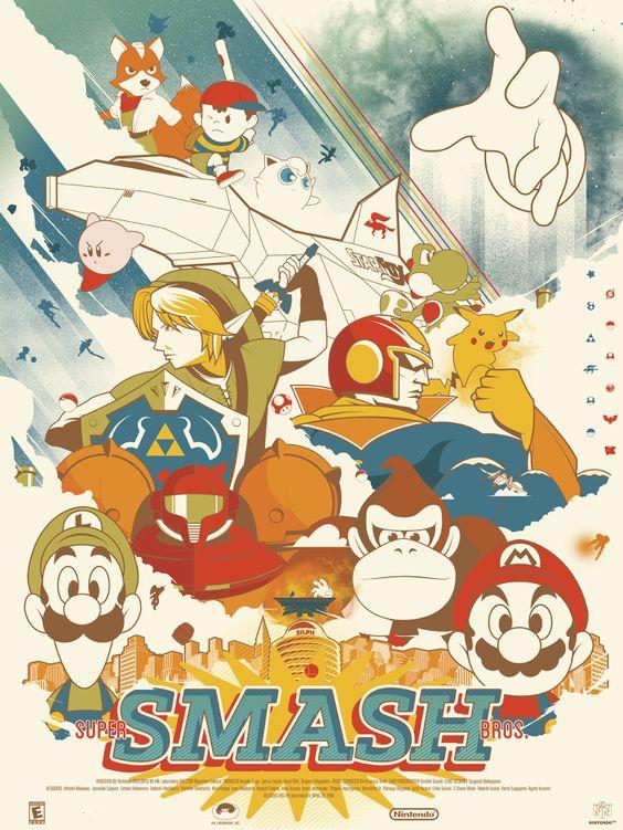 Super Smash Bros. por Marinko Milosevski //                                                                                           Mais