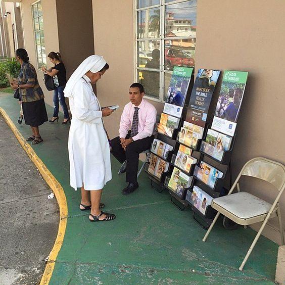 Public witnessing in Panama City, Panama. Photo shared by @robynsmi