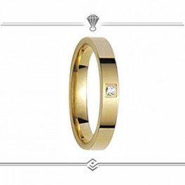 Alliance diamant 0.03 CT FANTAISIE en or Jaune