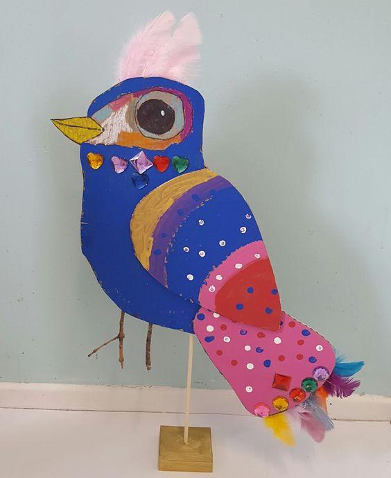 MaryMaking: Recycled Cardboard Birds: