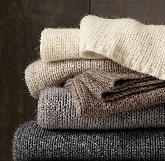 Restoration Hardware Italian Wool and Alpaca Ribbed Throw | Remodelista