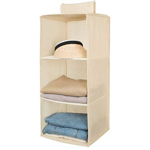 Aoolife 3 Shelf Hanging Closet Organizer Hanging Shoe Sto Https Www Amazon Com Dp B07fz5prp Hanging Closet Organizer Hanging Closet Hanging Closet Storage