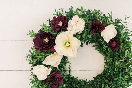 learn how to make this pretty paper flower wreath by Lauren Conrad