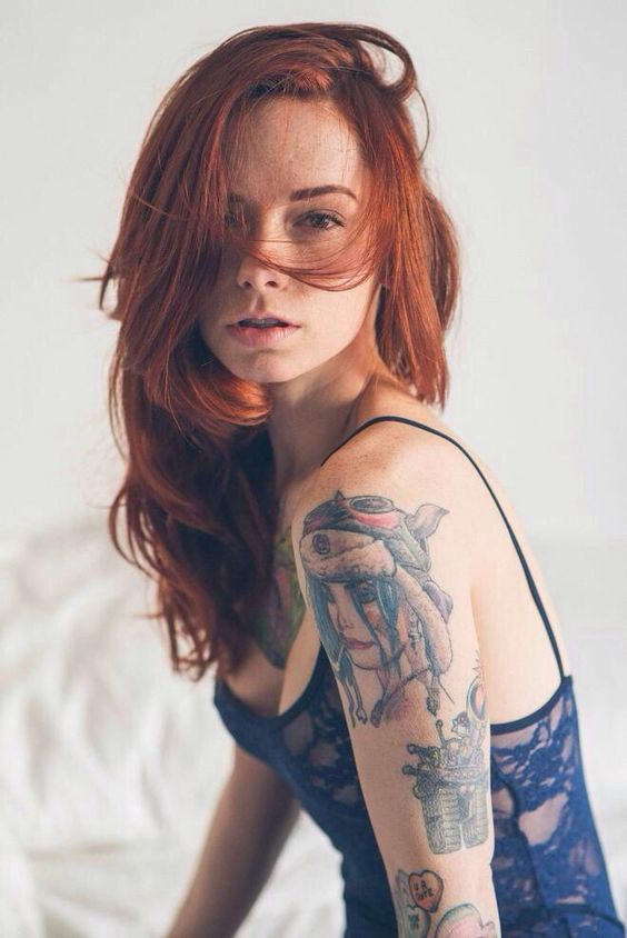 Tattooed women are beautiful
