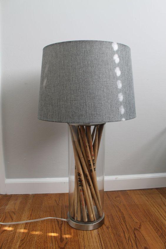 Drum stick lamp by IlluminateElise on Etsy https://www.etsy.com/listing/245183278/drum-stick-lamp