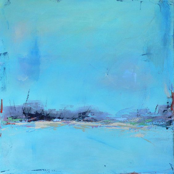 Contemporary Abstract Landscape Painting Featured on by jgouveia, $1000.00