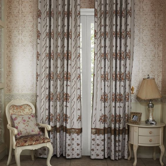 country floral bloom energy saving curtain curtains decor homedecor homeinterior brown