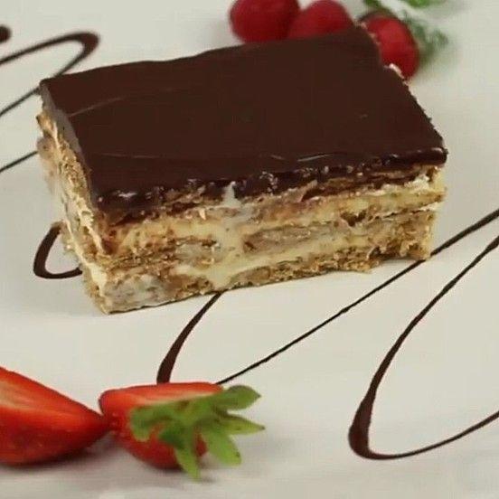 Pudding Butterkeks Kuchen Ohne Backen Rezept In 2020 Butterkeks Kuchen Ohne Backen Kuchen Ohne Backen Und Kuchen Mit Butterkeks