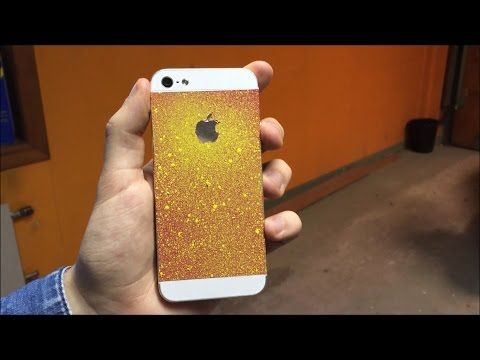 SPRAY PAINTING MY IPHONE - YouTube