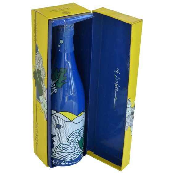 Original Roy Lichtenstein Champagne Bottle for  Taittinger Collection 1985 | From a unique collection of antique and modern contemporary art at https://www.1stdibs.com/furniture/wall-decorations/contemporary-art/