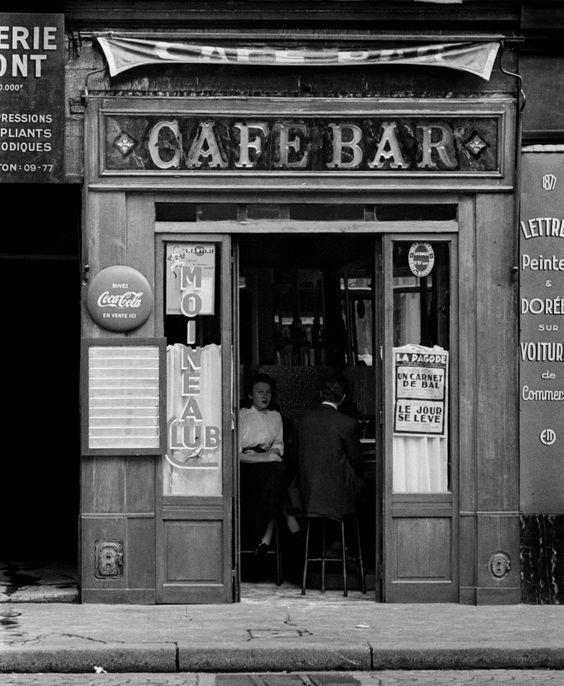Ed van der Elsken  Café Moineau - Paris 1950s