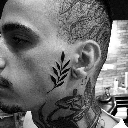Tattoos For Men Face Tattoos Small Face Tattoos Face Tattoos