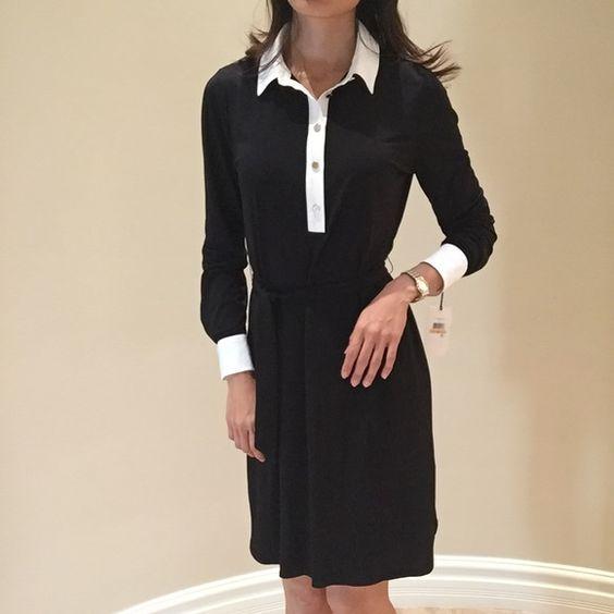 "Brand new ivanka trump Brand new, size S , length 35"" bust 36"" strechy well , waistline 34-38""adjustment , belt including, hip 38-40"" strechy well, sleeve : full sleeve Ivanka Trump Dresses"