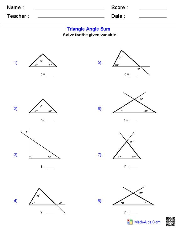 math worksheet : triangle angle sum worksheets  places to visit  pinterest  : Gcse Maths Angles Worksheets