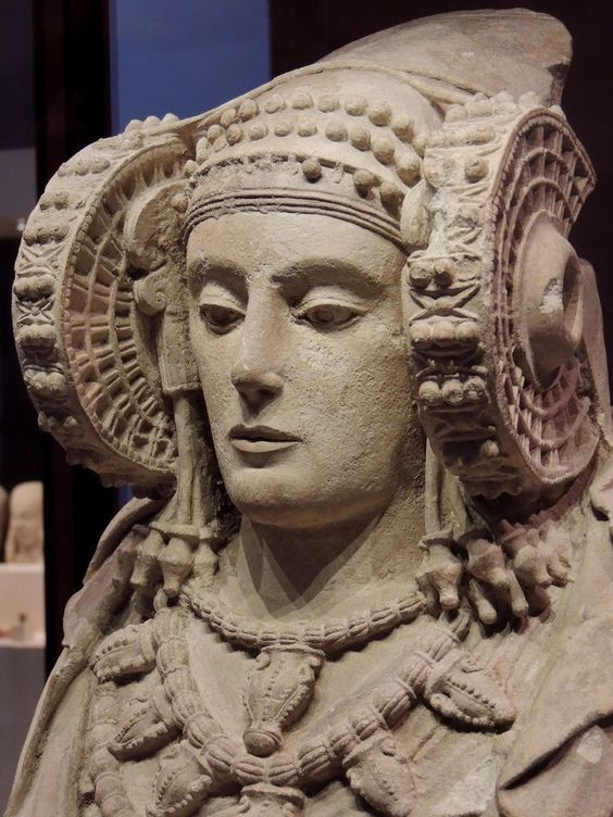 The Lady of Elche is an Iberian statue in limestone, dating between the 5th and 4th centuries BC. It has a cavity in its back that possibly served to introduce relics, sacred objects or ashes as...