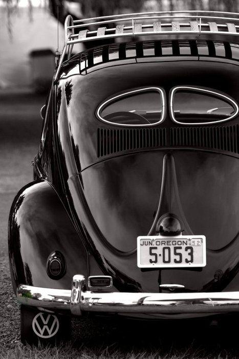 Black #VW #Beetle #fusca