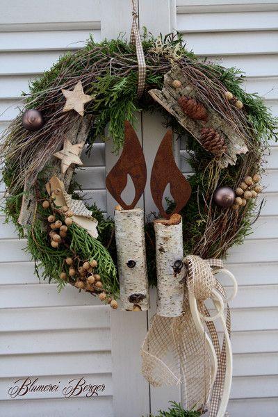 adventsgestecke heidelbeere rustikale weihnachten. Black Bedroom Furniture Sets. Home Design Ideas