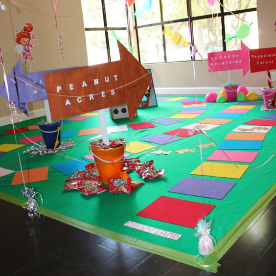 Homemade Life Sized Candyland Board Game For My Daughter's