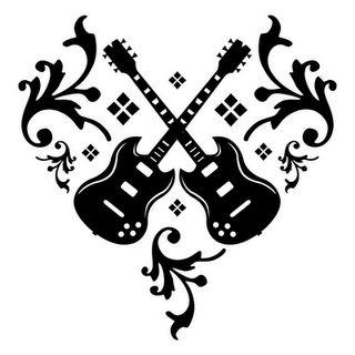 guitar heart tattoo