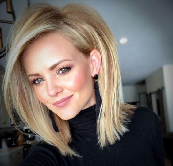 Blonde lob - Frisyrer Lena do love her hair so much Lena do love this woman hair shooper cute like this woman