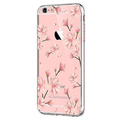 Vanki Iphone 6s Plus Hulle Tpu Bumper Tasten Schutzhulle Blumen Clear Case Cover Design Print Silikon Durchsich Durchsichtige Handyhullen Cover Design Iphone 6