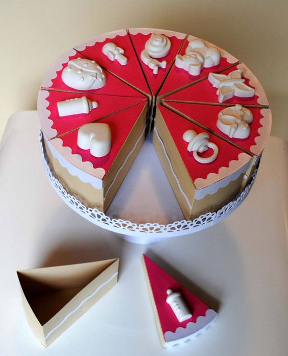 Favor cake for baptisms, communions and confirmations