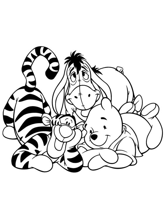 piglet with pinwheel piglet tattoo pinterest piglets piglet tattoo and tattoo - Pooh Bear Coloring Pages Birthday