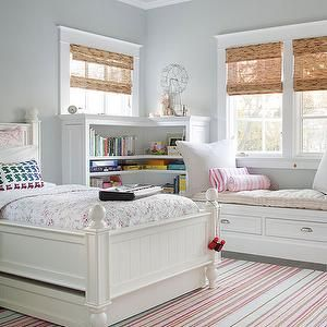 Pink and Gray Girl's Room, Traditional, girl's room, BHG