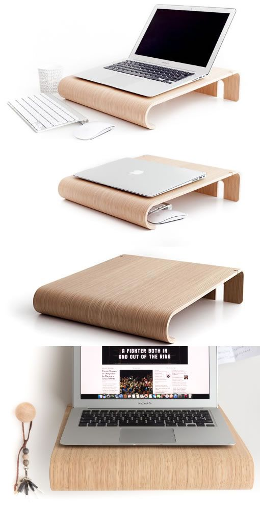 Bamboo Wooden Laptop Macbook Cooling Stand Holder Riser Dock Laptop Desk Desktop Stand Holder Mount Cradle For Laptop Diy Laptop Stand Diy Laptop Laptop Stand