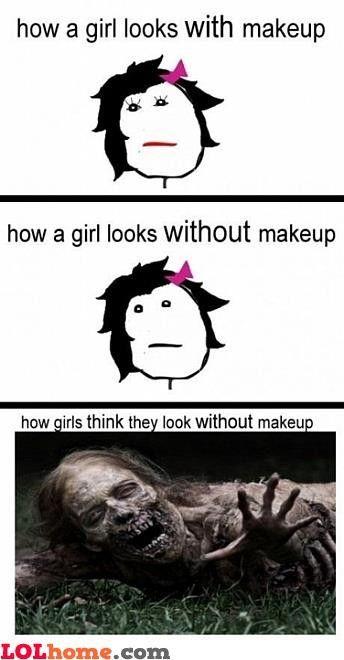 Girls and make-up