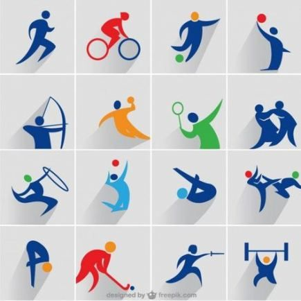 38+ best ideas sport icon vector design | sport icon, sports logo design,  olympic icons  pinterest