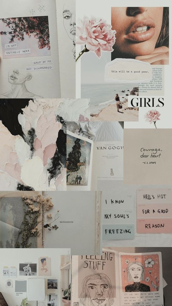 Vogue Girl Wallpaper Pastel Estetica Pastel Wallpaper Collage