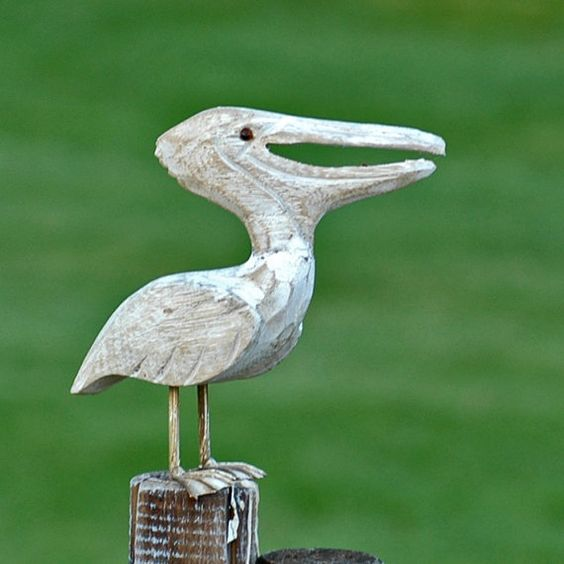 Wooden Pelican Home Decor T6 L By Coolvintage On Etsy 15 50