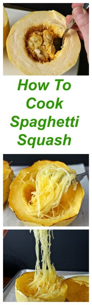 How To Cook Spaghetti Squash- this method produces extra long noodles!! #paleo #whole30