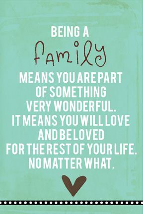 Something to consider!  Family<3: