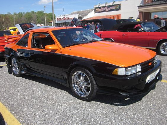 https://flic.kr/p/eeoT4k | 1989 Chevy Cavalier Z24 | Asphalt Angels' Spring Car Show, Glory Days Grill, Bowie, MD, April 20, 2013.
