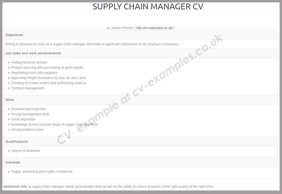 Example of Popular CV Format CV and Personal Statement Writing - example cv