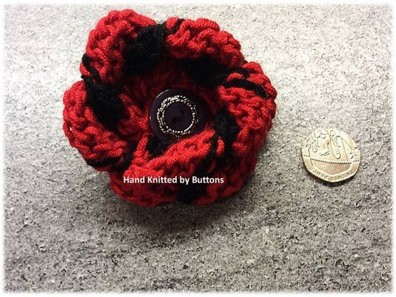 Hand Knitted Brooch Bespoke Brooch Safety by HandKnittedbyButtons