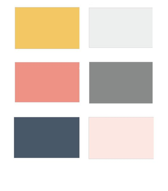 contemporary color schemes color palette inspiration happy dusty blue orange grey and