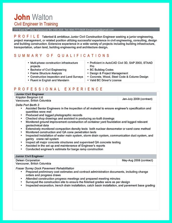awesome Perfect Construction Manager Resume to Get Approved, Check - resume for construction