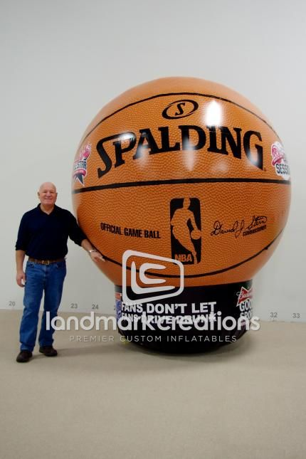 NBA All-Star Game Giant Inflatable Spalding Basketball Replica #sportsmarketing #inflatables