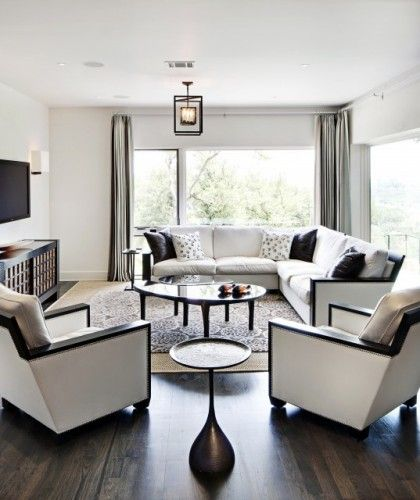 Good Room Designs: Good Config. For Rectangle Shaped Room. Also Love The