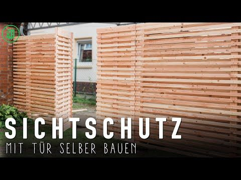 42+ Sichtschutz aus terrassendielen selber bauen Sammlung