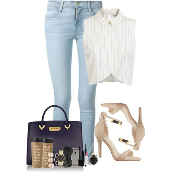 Fashion a morning by emma14-cxxxv on Polyvore featuring moda, Miss Selfridge, Frame Denim, ZAC Zac Posen, Wet Seal, Marc by Marc Jacobs, Chanel, HoneyBee Gardens, Stila and Aéropostale