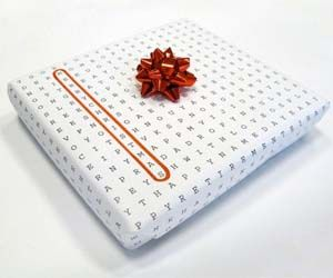 word search wrapping paper!