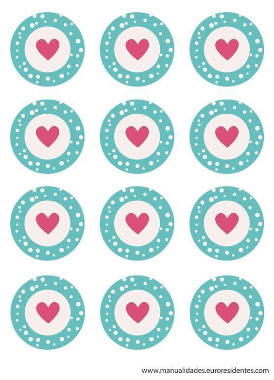 Stickers de corazones para pegar en los trabajos de tus for Stickers de pared