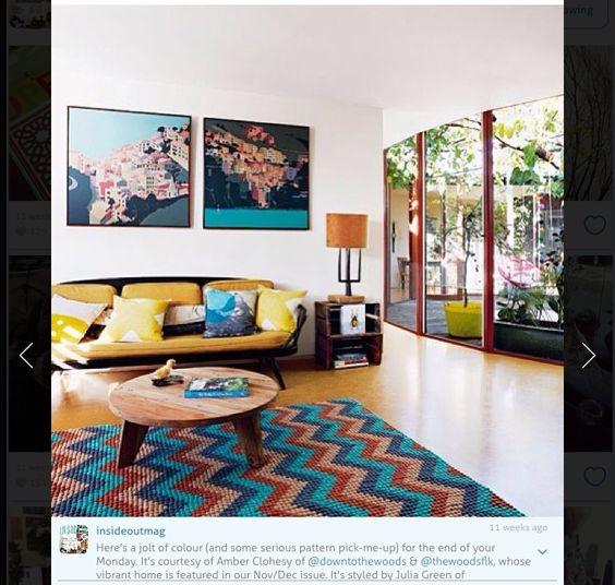 Retro. Great sofa and rug