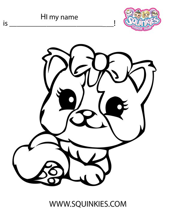 squinkies coloring pages online - photo#6