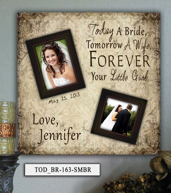 Father of the Bride Gift Mother of the by PhotoFrameKeepsakes, $75.00