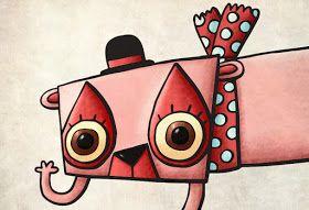 El pulpo con lápiz - Illustration: The Pink Loris